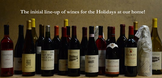 Scott Hafner shares a selection of his wines for the Holiday Season.
