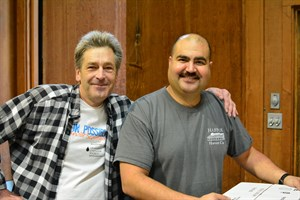 Steve and Ricardo ship packages to lucky recipients of Hafner wine.
