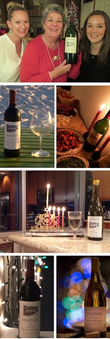 Patrons across the country shared photos of enjoying Hafner during the Holidays.