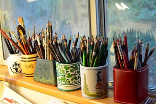 Sarah Hafner's art supplies