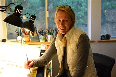 Sarah Hafner is our in-house watercolorist.