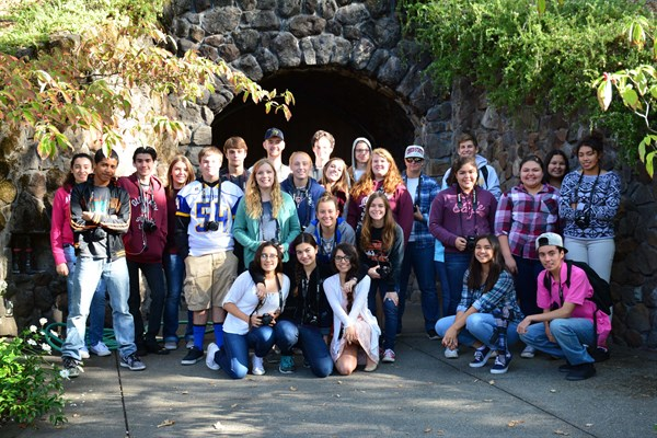 Cloverdale High Photography Class visits Hafner