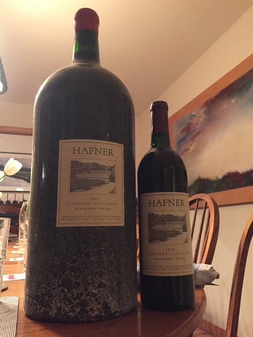 1990 Hafner Cabernet from Alexander Valley