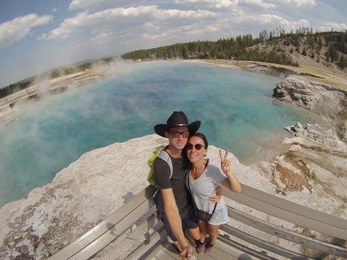 Charles and Aurelie at Yellowstone