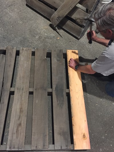 Repairing Pallets at Hafner