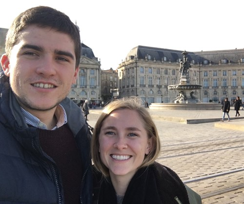 Grace and Guillaume in Bordeaux